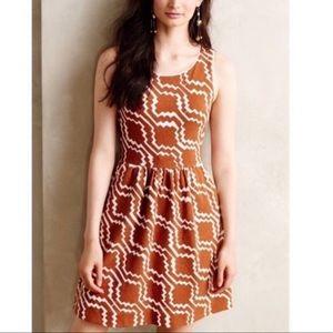 Anthropologie 'postmark' lantana dress w/pockets